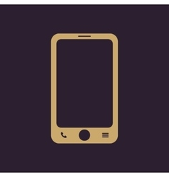 The smartphone icon Phone symbol vector