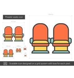 Theater seats line icon vector