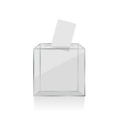 Transparent ballot box vector