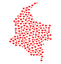 valentine mosaic map of colombia vector image