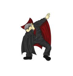 Vampire character dancing dab step vector
