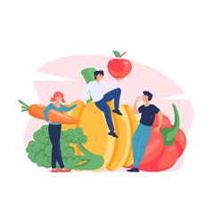 vegetarianism concept vector image