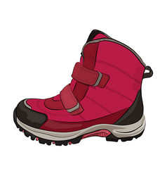 winter pink shoes vector image