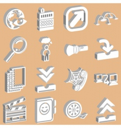 3D internet vector image vector image