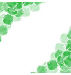 abstract green hand drawn watercolor background vector image