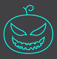 halloween pumpkin line icon halloween and scary vector image
