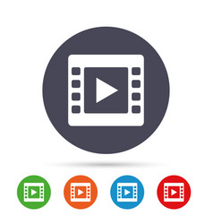 video sign icon video frame symbol vector image