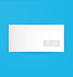 White Blank Closed Envelope Template vector image