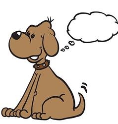 dog with thought bubble vector image