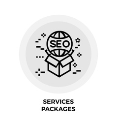 Services packages line icon vector