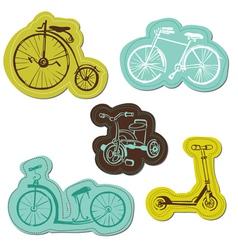 Set of Baby Bike Stickers vector image vector image