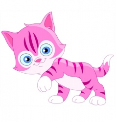 smiley kitten vector image vector image