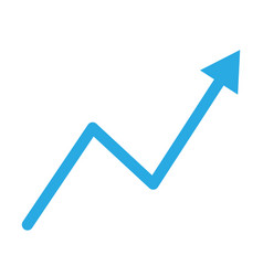 trend up graph icon in trendy flat style isolated vector image vector image