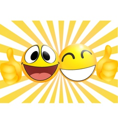 Emoticon with thumb vector image