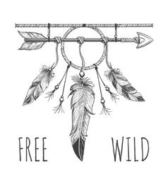 Native american accessory with arrow vector image vector image