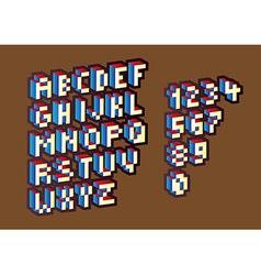 Pixel alphabet vector image vector image