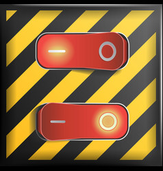 realistic toggle switch danger background vector image