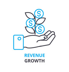 revenue growth concept outline icon linear sign vector image vector image