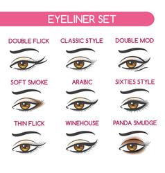 woman eyes makeup set vector image vector image
