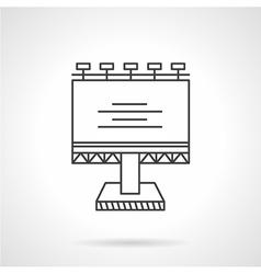 Illuminated billboard line icon vector image vector image