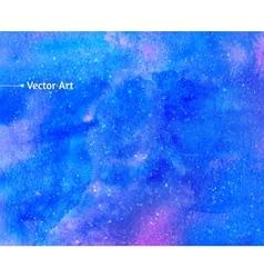 Watercolor universe vector image vector image