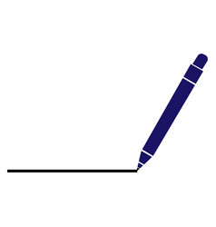 a pen drawing line vector image