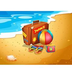A summer escapade at the beach vector