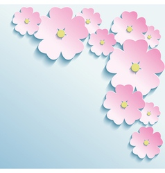 Abstract background with 3d flowers vector image
