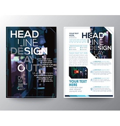 Abstract Brochure Flyer design Layout template vector image