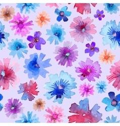 Abstract watercolor flower pattern modern flower vector