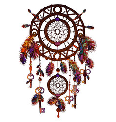 American colored bright dreamcatcher vector