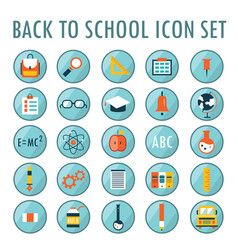 back to school icon set part 1 vector image