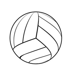 ball for volleyball vector image