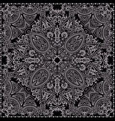 bandana paisley design- classic print square vector image