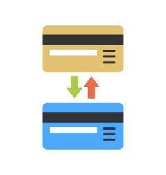 Bank non-cash operation vector image
