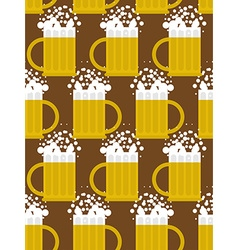 Beer seamless pattern Beer mug background Mug with vector image