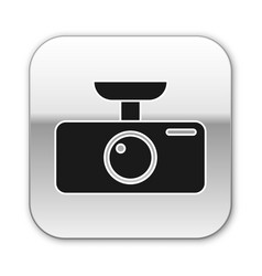Black car dvr icon isolated on white background vector