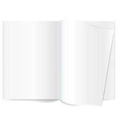 Book Spread With Blank White Pages vector