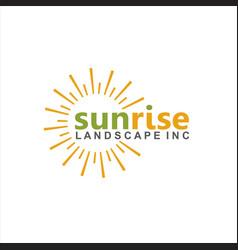 bright sun minimalist logo design vector image