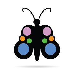 butterfly color vector image