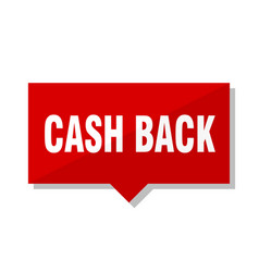 Cash back red tag vector