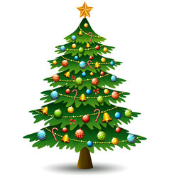 Christmas tree on a white background vector