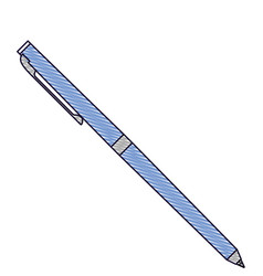 classic ballpoint pen write supply office object vector image