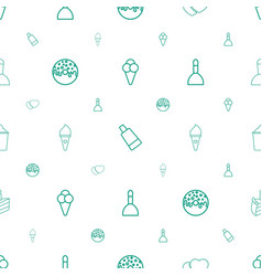 Cream icons pattern seamless white background vector