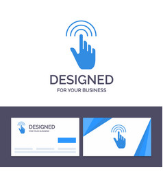 Creative business card and logo template finger vector