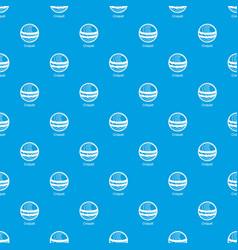 croquet pattern seamless blue vector image