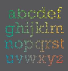 Cubic Font vector