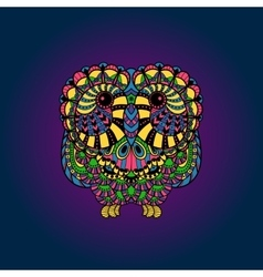 Decorative liner Owl vector