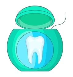 Dental floss icon cartoon style vector