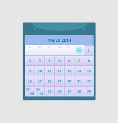 Design schedule monthly march 2014 calendar vector